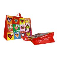 Wholesale Coloful PP Woven Shopping Bags Heart Pattern 120gsm from china suppliers
