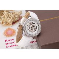 Wholesale Butterfly Leather Womens Wrist Watches Crystal White , White Case Watches from china suppliers