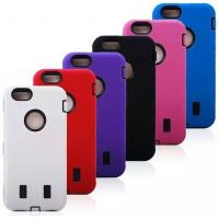 Wholesale Robot Pattern Cell Phone Case Wear Resistant Skin For Iphone 6 Three Layer Covers from china suppliers