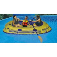 Wholesale Portable 3 Person 0.45mm PVC Inflatable Boat With Paddle On Lake from china suppliers