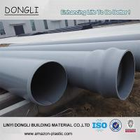 Buy cheap China manufacturer grey 315mm 1.0mpa pvc plastic pipe prices from wholesalers