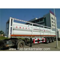 Wholesale Professional 6265Nm3 , 25MPa , 9 Tube liquid tank trailers for Transport CNG from china suppliers
