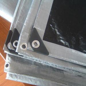 Wholesale Black/silver Plastic tarpaulin ,PE tarpaulin with any color ,waterproof PE tarpaulin from china suppliers