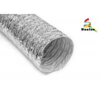 Quality Air exhausting single or double layer aluminum flexible ducting , flexible aluminum foil duct for sale