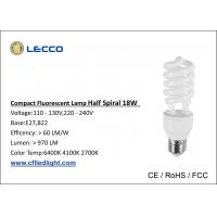 Wholesale CFL Compact Fluorescent Lamps / Lightbulbs T3 18W 8000H Long Life Time from china suppliers