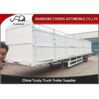 Wholesale Enclosed Strong Box Semi Livestock Trailers / 30 - 50 Tons Tractor Cattle Trailer  from china suppliers