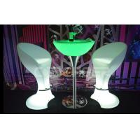 Wholesale Strong Plastics Led Glow Furniture With Metal Leg Table For Club from china suppliers