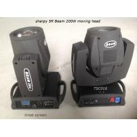 Quality High Brightness Beam 200 5r Sharpy Moving Head Light 200w For Live Concerts for sale