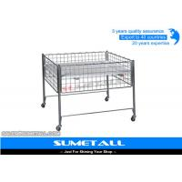 Wholesale Promotion Wire Storage Baskets With Wheel , Metal Wire Container Storage Cages from china suppliers