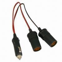 Wholesale Car cigarette lighter plug to socket cable with 15A rated current from china suppliers