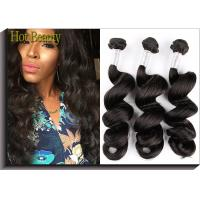 Wholesale Charming Remy Virgin Hair Virgin Peruvian Hair Extensions , Natural Black from china suppliers