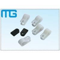 Wholesale R Type And Plastic Wire Clamps , PA66 Nylon Cable Clamps Black / White Fixed By Screw from china suppliers