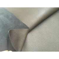 Wholesale Dark Brown 50% Recycled Genuine Leather Fabric 1.2mm - 1.4mm Thickness from china suppliers