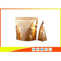 Wholesale Custom Gold Coffee Bean Packaging , Stand Up Packaging Pouch Bag With Valve from china suppliers