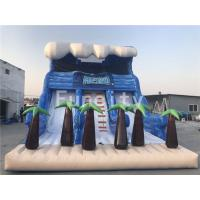 Wholesale 0.55mm PVC Tarpaulin Inflatable Dry Slides , 11 Meter Jumping Inflatable Slide from china suppliers