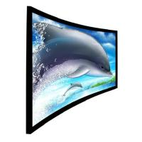 Wholesale 180 or 360 degree Immersive 3D Curved Projection Screen for Home Cinema from china suppliers