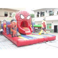 Wholesale PVC Tarpaulin Spider Man Inflatable Amusement Park With 8m * 5m * 4m from china suppliers
