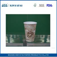 Quality 12oz  400ml Eco-friendly Recycled Paper Cups , Biodegradable Single Wall Paper Coffee Cups for sale