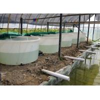 Wholesale 3500 liter  No Collapsible aquaculture Circle indoor commercial PE raised plastic fish ponds from china suppliers