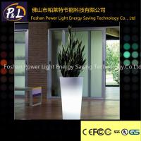 Wholesale Garden Furniture PE material LED Flower Pot for decorations from china suppliers