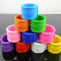 Quality Printed color silicone bracelets slap wristband for children for sale