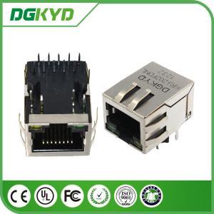 Wholesale KRJ - 202FDNL metal cat6 shielded rj45 connectors , 1000 Megabit female rj45 connectors from china suppliers