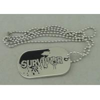 Wholesale Zinc Alloy Survivor Personalised Dog Tags Soft Enamel Long Ball Chain And Nickel Plating from china suppliers