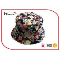 Wholesale 55 cm Cotton Flower Printed Custom Bucket Hats For Girls , Cotton Sheeting Lining from china suppliers