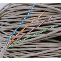 Quality Grey PE Insulation UTP Cable Cat5e 24AWG High Speed 500 m/roll for sale