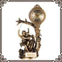 Wholesale sexy fancy wholesale clock and figurine resin art deco clocks 1206ABK from china suppliers