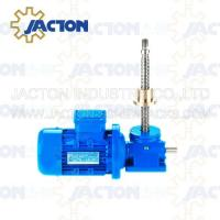 Wholesale 15T Machine Screw Jack Lifting Screw Diameter 58MM Lead 12MM Gear Ratio 8:1 and 24:1 from china suppliers