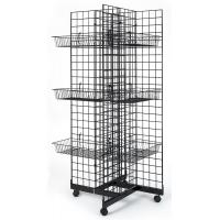 Wholesale 4 Sided Retail Display Racks Merchandising Shelves With 12 Baskets from china suppliers
