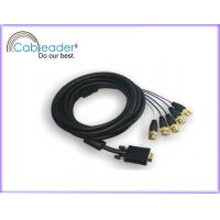 Wholesale 24K Gold plated 15-PIN VGA to TV Cable (VGA-5BNC) with five BNC cables from china suppliers
