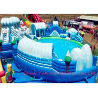 Quality Commercial PVC Snow World Inflatable Floating Water Park CE Blower 18 OZ for sale