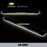 Wholesale Chevrolet Cruze LED door sill plate light moving door scuff Pedal lights from china suppliers