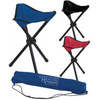 Wholesale Outside Picnic Folding Beach Chair With Black Steel Tube 3 Legs / Tripod Folding Stool from china suppliers