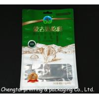 Wholesale 200g Moisture Proof Flat Bottom Pouches With Euro Hole / Transparent Window from china suppliers