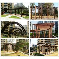 Wholesale pergola canopy kits review WPC(Wood plastic composites)material from china suppliers