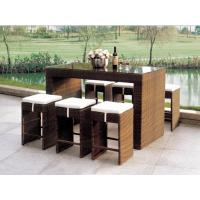 Wholesale 2014 popular rattan bar table and chair set from china suppliers