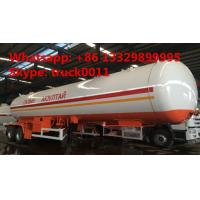 factory price 17tons Double axles lpg road tanker trailer, best price 40.5m3 road transported lpg gas tank for sale