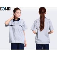 Quality CVC fabric anti-static workwear custom work uniform with company embroidery logo for sale