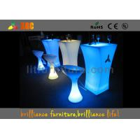 Wholesale Polyethylene LED Lighting Furniture / Glowing Cocktail table for party & exhibition from china suppliers
