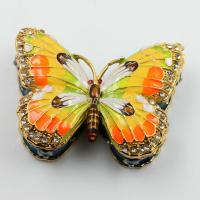 Wholesale Shinny Gifts Butterfly Trinket Box Jewelry Box Ornament Gifts Box from china suppliers