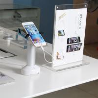 Wholesale COMER mobile phone counter charging security display alarm stand with gripper anti theft lock from china suppliers