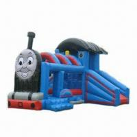 Wholesale Train Inflatable Bouncer, Ideal for Indoor or Outdoor Use, Customized Colors Welcomed from china suppliers