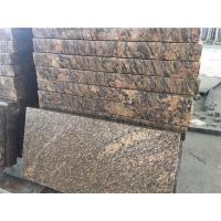 Buy cheap Flamed GIALLO CALIFORLIA Natual Granite Tiles Thickness 5cm Brown Yellow from wholesalers