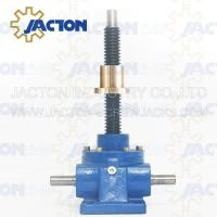 Wholesale 10 Ton Acme Screw Jack Lifting Screw Diameter 46MM Lead 8MM Gear Ratio 8:1, 16:1 and 32:1 from china suppliers