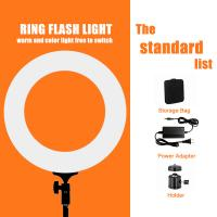 Wholesale Pink White Black 12/18 Inch Dimmable Led Ring Light / Ring Light For Video from china suppliers