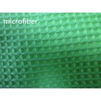 Quality Green 150cm Width Microfiber Cleaning Cloth 300gsm Density Waffle Fabric Absorbent for sale