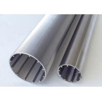Wholesale V Slot Filtering Stainless Steel Slot Tube With Profile Transverse Looped And Lengthways Support Rods from china suppliers